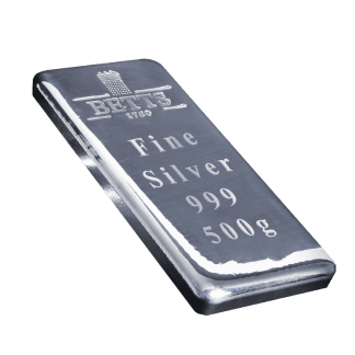 500g Betts 1760 Silver Bar