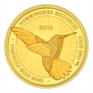 1oz Hummingbird 2018 Gold Coin