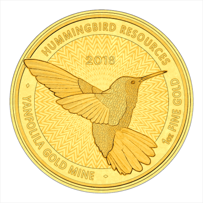 Hummingbird 1oz gold coin