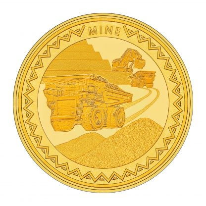 Mine Gold Coin