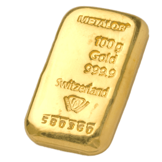 LBMA 100g Metalor Gold Bar - buy metalor gold online