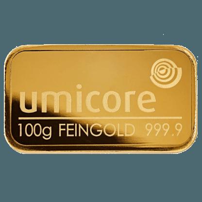 LBMA 100g Umicore Gold Bar Online