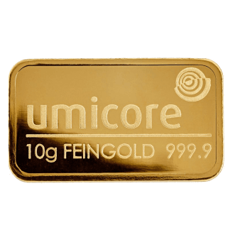 LBMA 10g Umicore Gold Bar