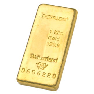 LBMA 1kg Metalor Gold Bar