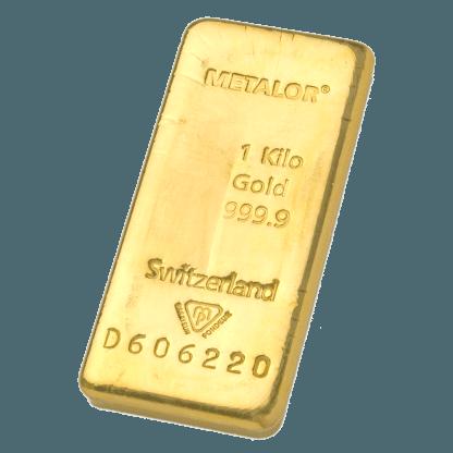 LBMA 1kg Metalor Gold Bar