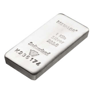 LBMA 1kg Metalor Silver Bar