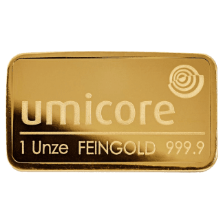 LBMA 1oz Umicore Gold Bar