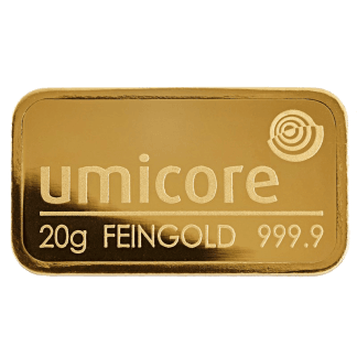 LBMA 20g Umicore Gold Bar