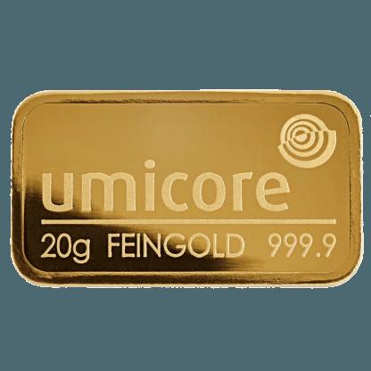 LBMA 20g Umicore Gold Bar