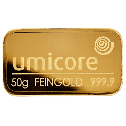 LBMA 50g Umicore Gold Bar