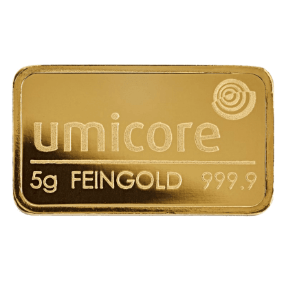 LBMA 5g Umicore Gold Bar