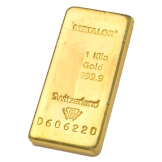 1 Kilo Gold Bar Metalor
