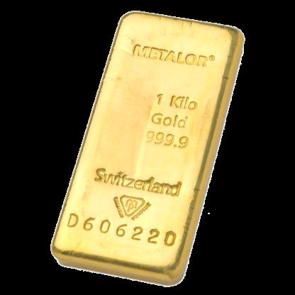 1 Kilo Gold Bar Metalor