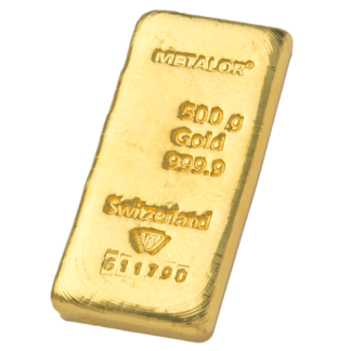 500g Metalor Gold Bar