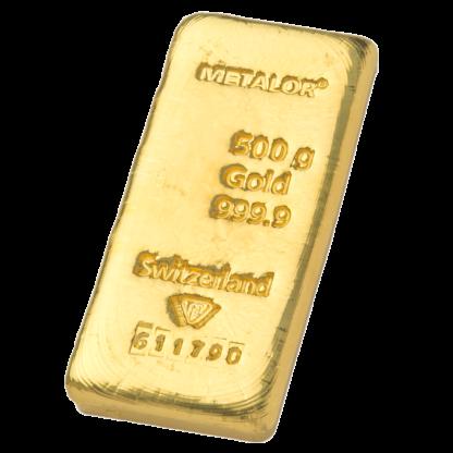 500g Metalor Gold Bar