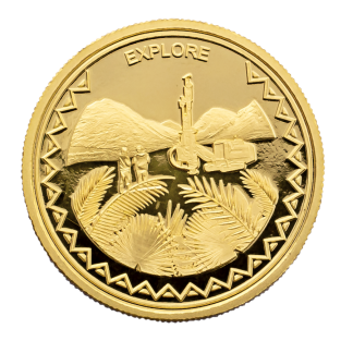 Palms Drill Gold Coin
