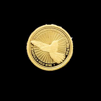 Hummingbird small gold coin