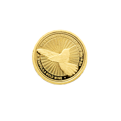 Hummingbird small gold coin