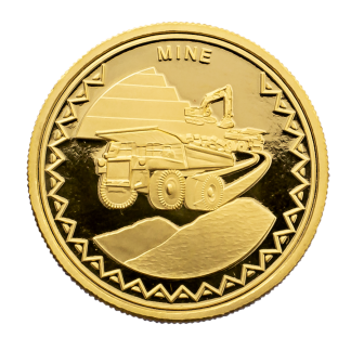 Dumper Truck Gold Coin 1/10th OZ