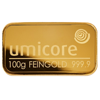 Umicore gold bar 100g