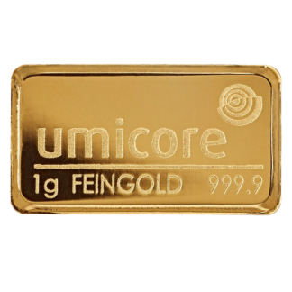 1g Umicore Gold Bar