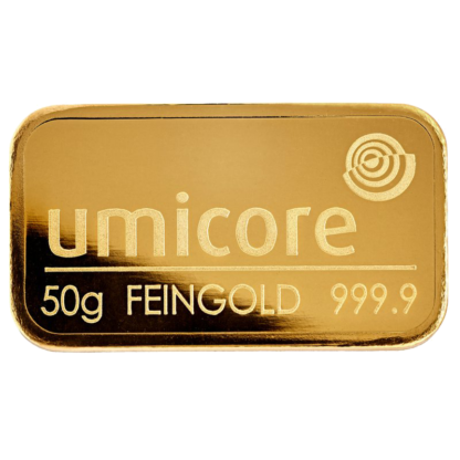 Umicore 50g Gold Bar
