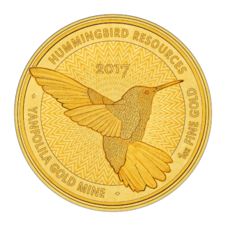 1oz Hummingbird Gold SMO coin - Hummingbird