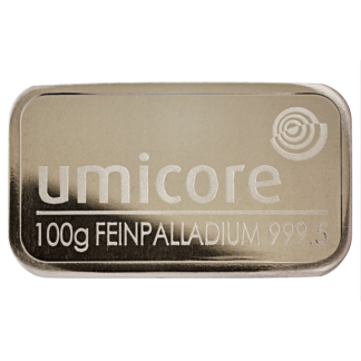 100g Umicore Palladium Bar