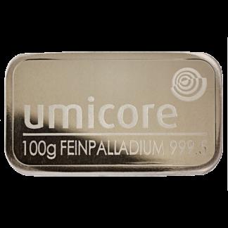 100g Umicore Palladium Bar