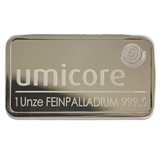 1oz Umicore Palladium Bar